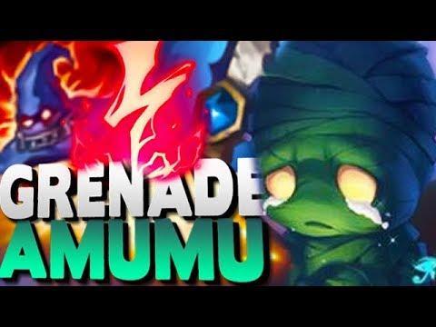 GRENADE AMUMU! MASSIVE DAMAGE - ONE SHOT EVERYONE - League of Legends