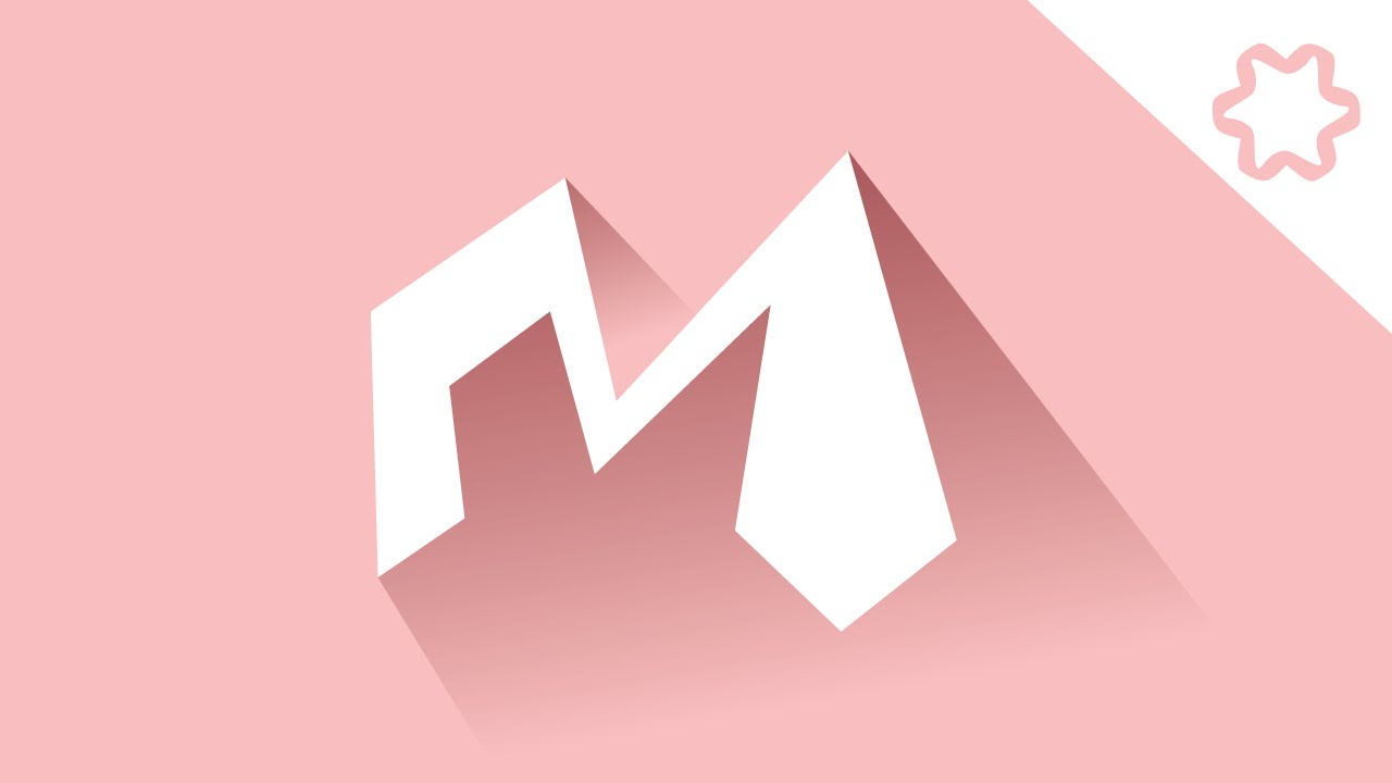 Illustrator Tutorial Flat Letter Logo Design With Long Shadow Effect Quick Logo Designing