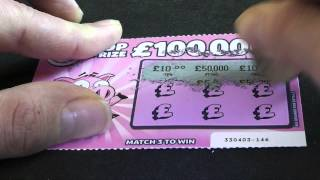 50 000 winning lottery scratch card caught on tape