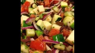 Cucumber-tomato-mozzarella Salad