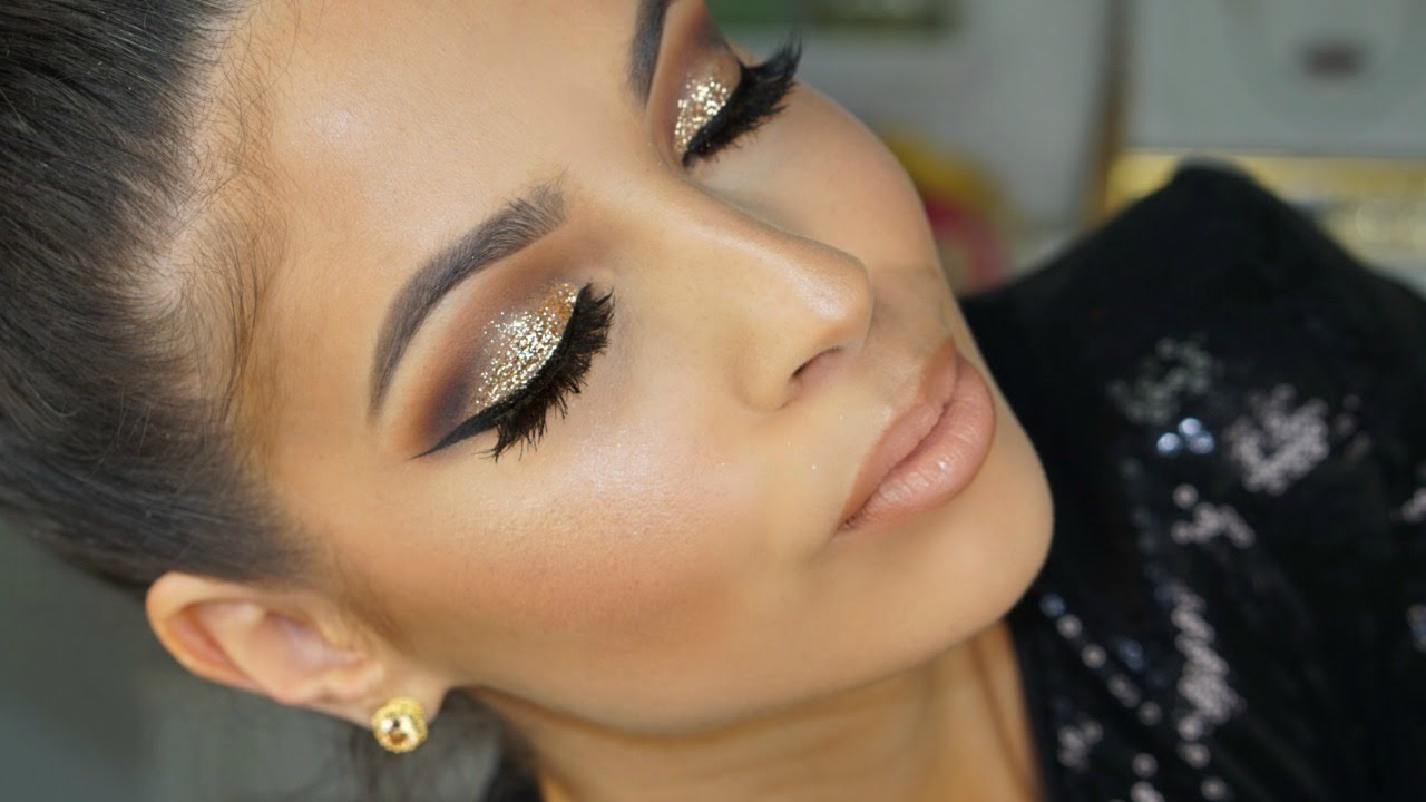 Golden Glitter Smokey Eye Makeup Tutorial 2016 Youtube