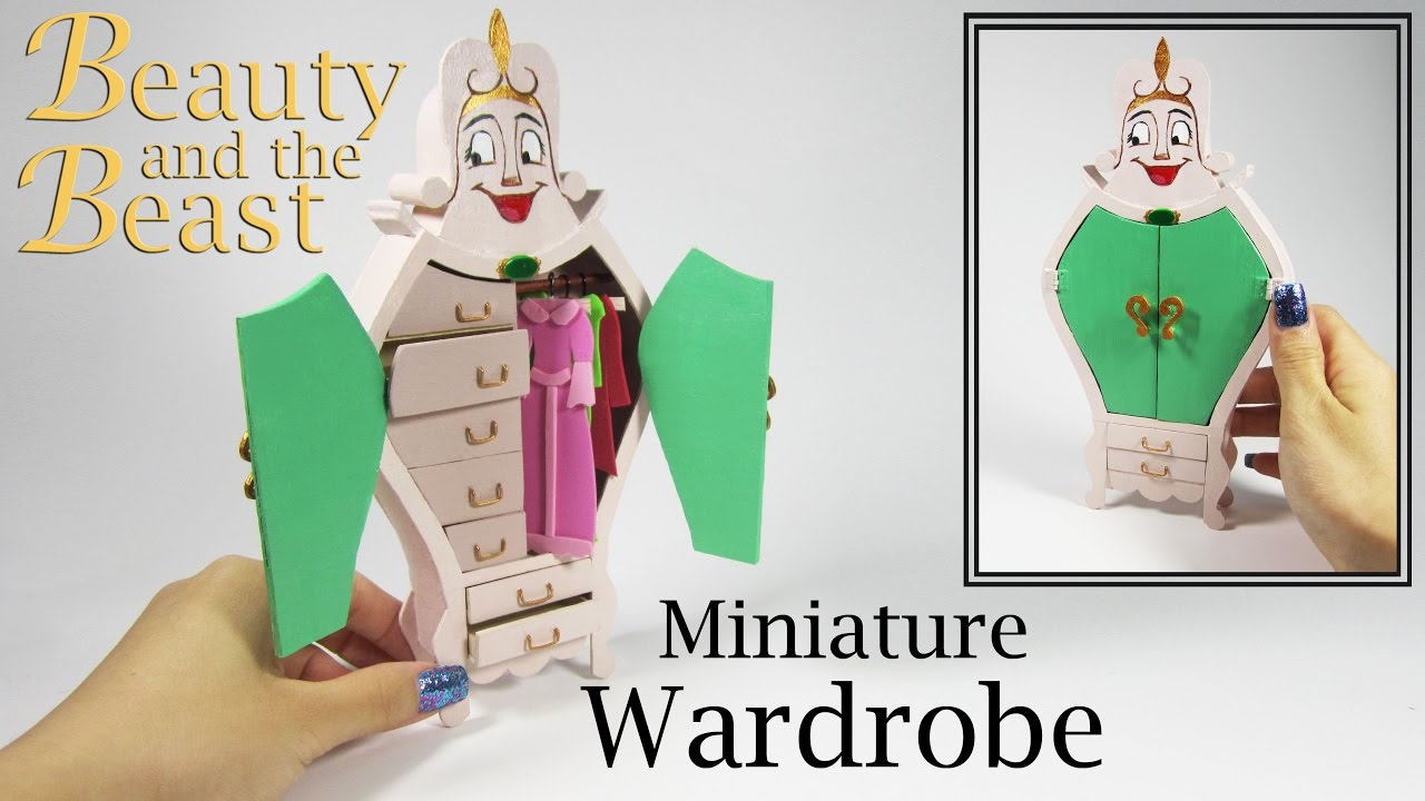 Miniature DIY: Beauty And The Beast Wardrobe
