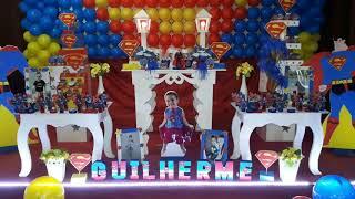 Decoração de aniversário superman