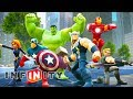 THE AVENGERS Cartoon Movie Game for Kids - Super Heroes Videos for Children - Disney Infinity 2.0