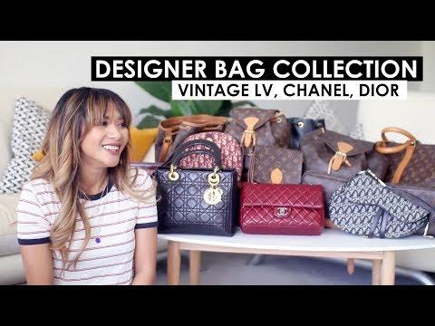 DESIGNER HANDBAG COLLECTION | Vintage LV, Dior, Chanel