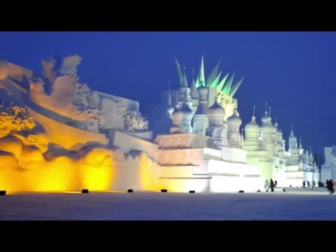 Harbin Ice & Snow Sculpture Festival ~ music 'Jade' by Harvey Summers.