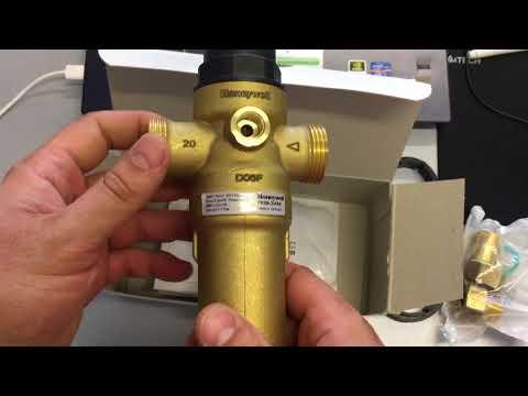 Honeywell FK06-1/2AAM, FK06-3/4AAM, FK06-1AAМ Промывной фильтр для горячей воды с редуктором
