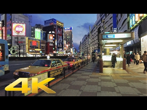 Walking around Ikebukuro east area by night, Tokyo - Long Take【東京・池袋/夜景】 4K