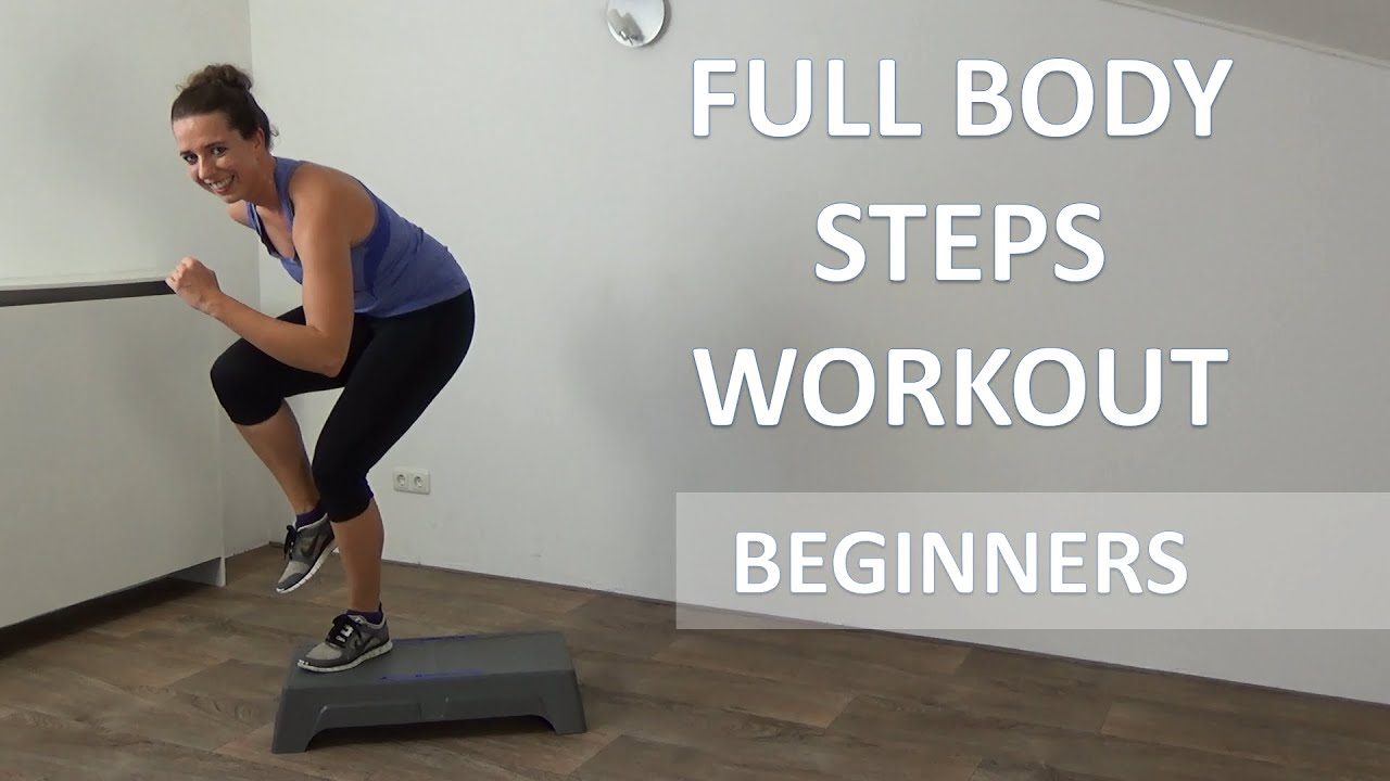 20 Minute Full Body Steps Workout Beginners Cardio Step Up Training Routine