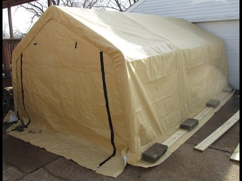 Harbor Freight Portable Garage Product Review u0026 Set ...