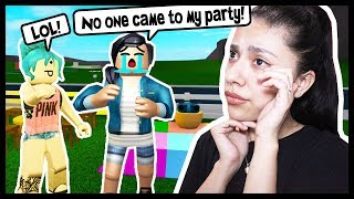 NO ONE SHOWED UP TO MY PARTY! SAD ROBLOX STORY! - Roblox Roleplay - Bloxburg