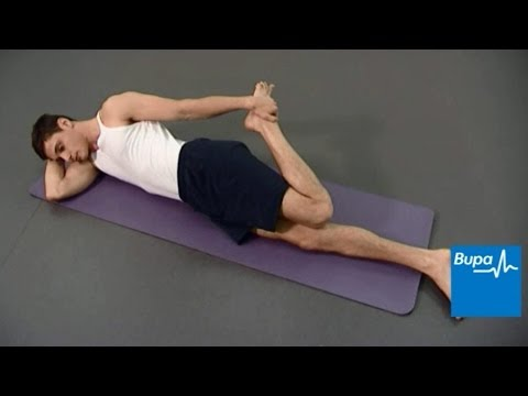 Stretches for your calf, quadricep, hamstring, chest, shoulder and tricep