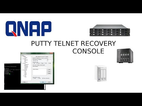 QNAP RECOVERY FIRMWARE PUTTY CONSOLE - YouTube