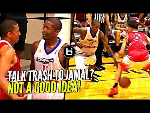 DON'T TALK TRASH TO JAMAL CRAWFORD!! NUTMEGS Defender & Hits The 3! Crawsover Pro Am FULL Highlights
