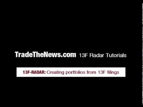 Stock PortfolioTutorial: By 13F Holding