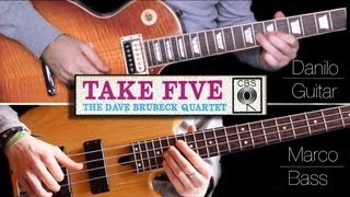 Baixar Take Five - Guitar & Bass Cover - Split Screen
