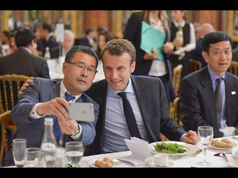 Emmanuel Macron au Chinese Business Club