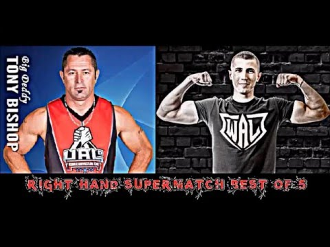 2016 Wisconsin Armwrestling SuperMatch Tony Bishop vs  Roman Gromov