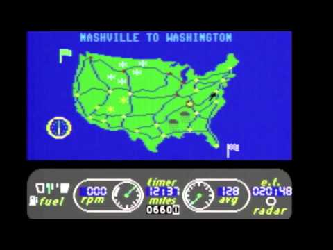 Cool And Unusual Games: Great American Cross-Country Road Race (C64) Review