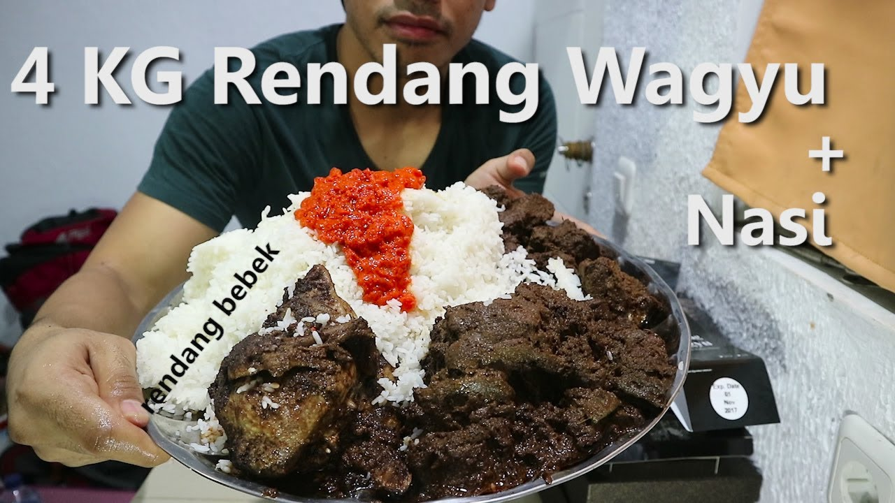 MUKBANG | 4 KG Rendang Wagyu + Nasi - YouTube