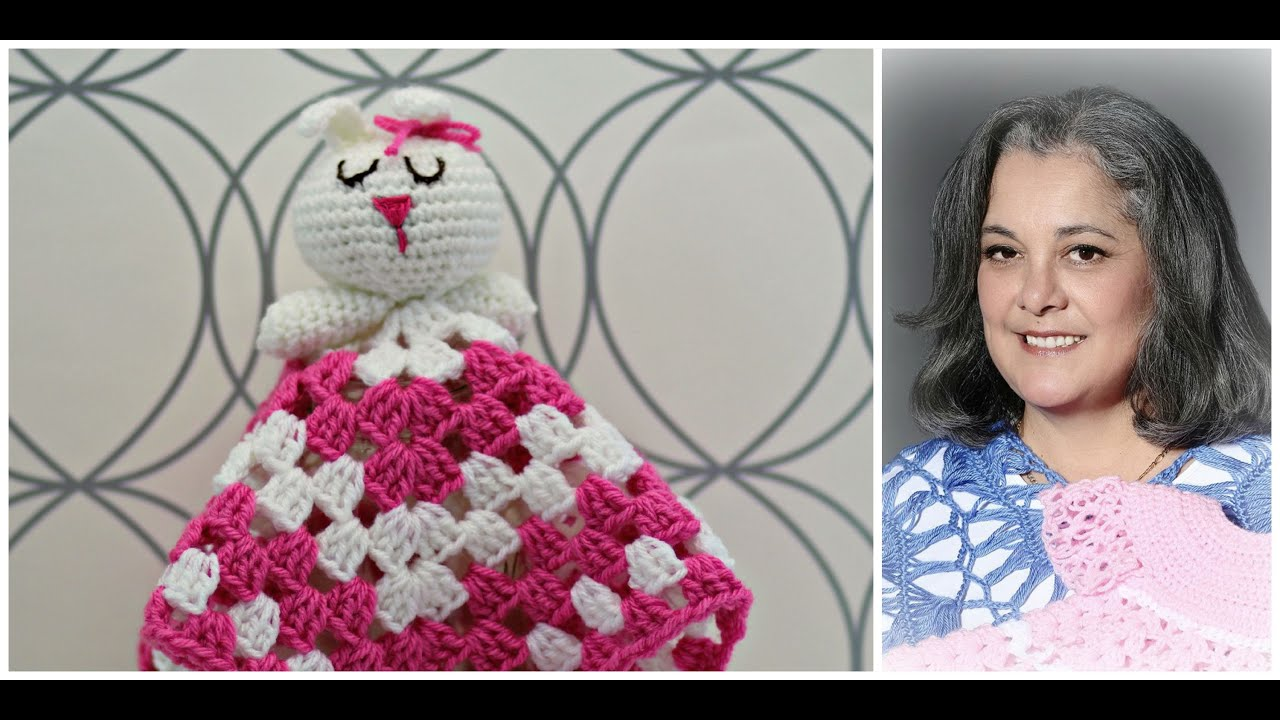 How to crochet bunny blankie lovie - Part 1 (subtitulos en espanol - Parte 1 )