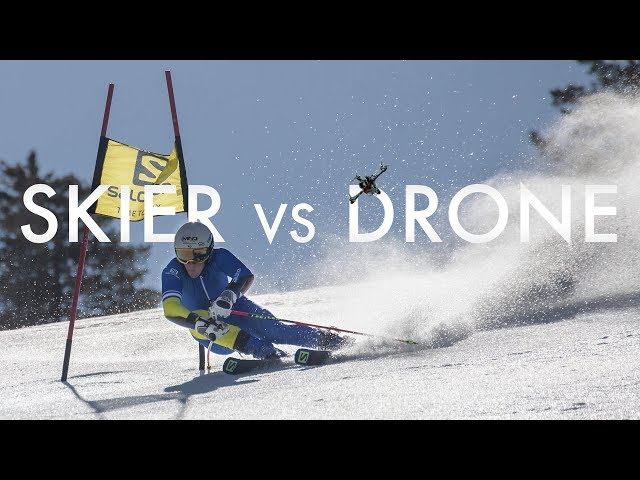 Salomon TV | Skier vs Drone