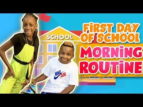 YAYA AND DJ BACK TO SCHOOL MORNING ROUTINE