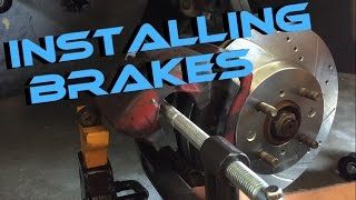 Installing Brakes And Rotors on my 2000 Acura Integra!!