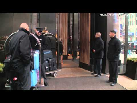 Khloe Kardashian & Kendall Jenner leaving the Trump Soho Hotel in NY