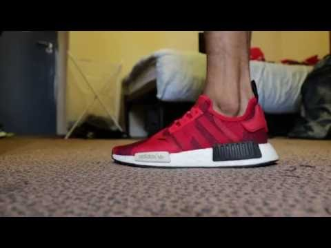 b1a3879ae5a0c Adidas NMD R1 Lush Red Camo On-Feet - YouTube