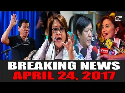 BREAKING NEWS TODAY! APRIL 24, 2017 | De Lima | Pres. Duterte | Bongbong Marcos  - Philippines News