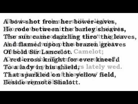 """""""The Lady of Shalott"""" by Alfred, Lord Tennyson (read by Tom O'Bedlam)"""