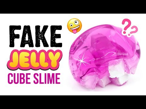 """DIY Jelly Cube Slime WITHOUT Sponges or Foam!! Satisfying """"FAKE"""" Jelly Cube Slime!"""