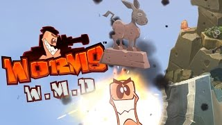 Worms WMD  - One Giant Jackass! - Worms WMD Multiplayer Gameplay Highlights)