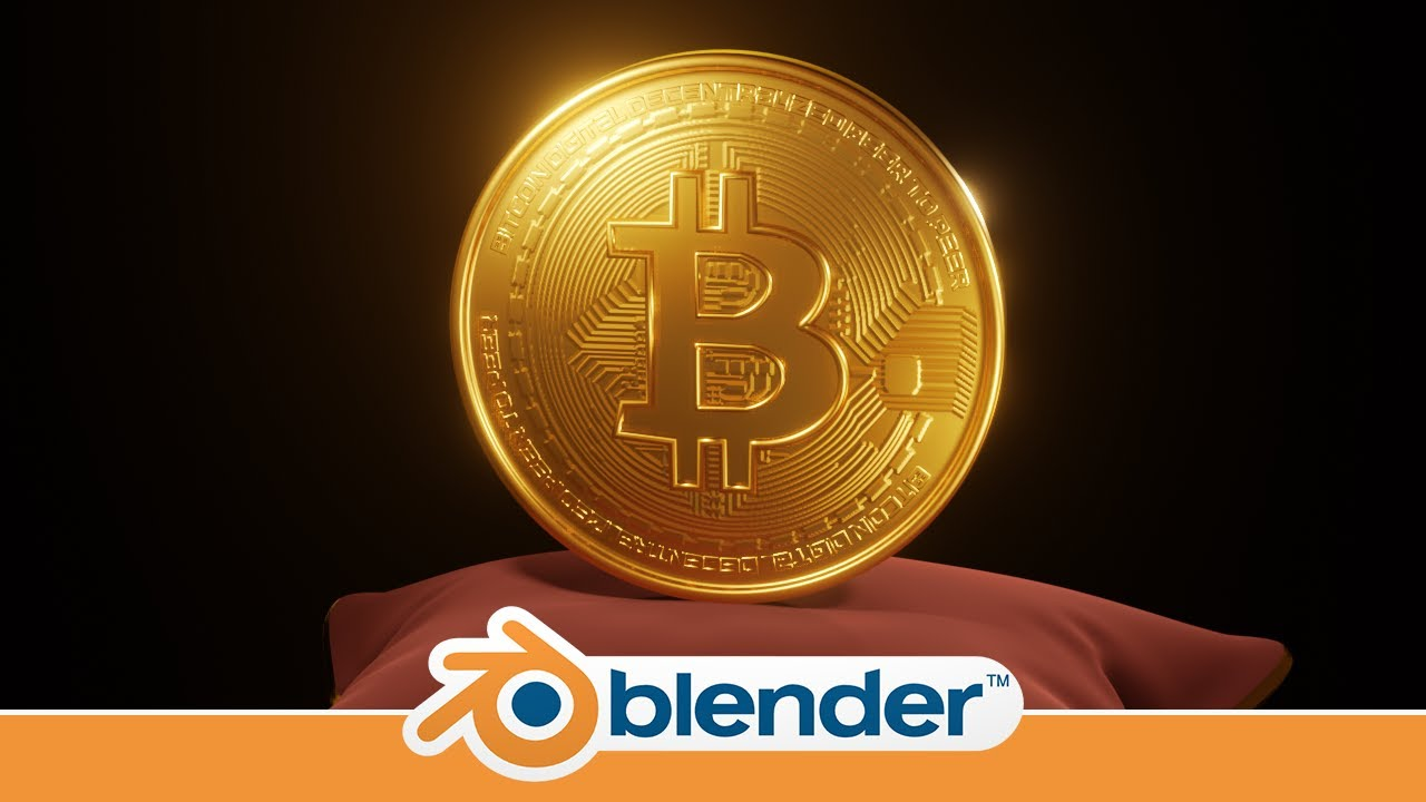 3d Bitcoin Modeling In Blender 2 9 Youtube