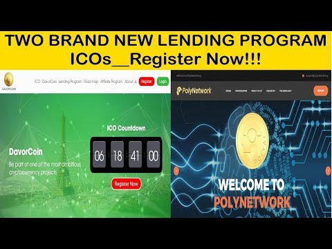 TWO BRAND NEW LENDING PROGRAMS ICOs INTRODUCED AGAIN!