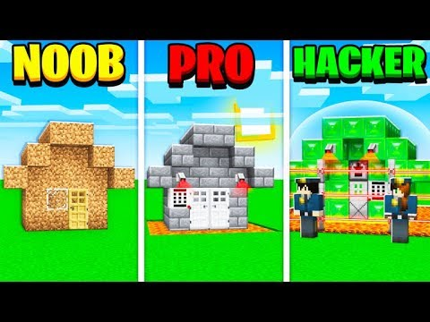 Minecraft Battle: NOOB Vs PRO Vs HACKER! SAFEST NUCLEAR HOUSE CHALLENGE!