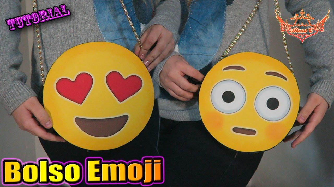 Tutorial bolso reversible en forma de emoji de goma eva - Formas goma eva ...