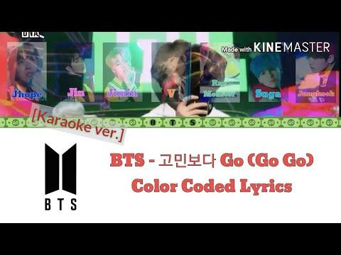 BTS (방탄소년단) - 고민보다 Go (Go Go) [Karaoke ver.] Color Coded Lyrics [Instrumental not clear/Kpop]