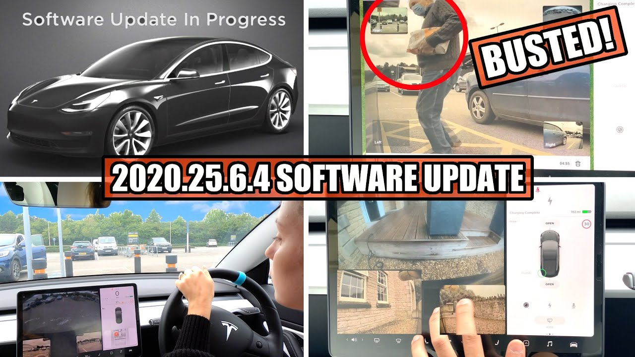 Virtual side mirrors & Improved 'SPYING' on Sentry Mode - Tesla Software Update 2020.24.6.4 Review