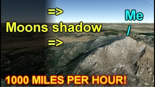 Watching Moons Shadow From Mountaintop! 1000 miles per hour!
