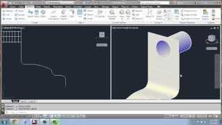 AutoCAD 2013 - 3D Modeling Basics #21 - Surface: Trim and Untrim - Brooke Godfrey