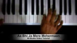 Aa Bhi Ja Mere Mehermaan - Atif Aslam Video Piano Tutorial - Jayantabhai Ki Luv Story