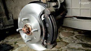 Замена тормозных дисков и колодок на Hyndai Accent