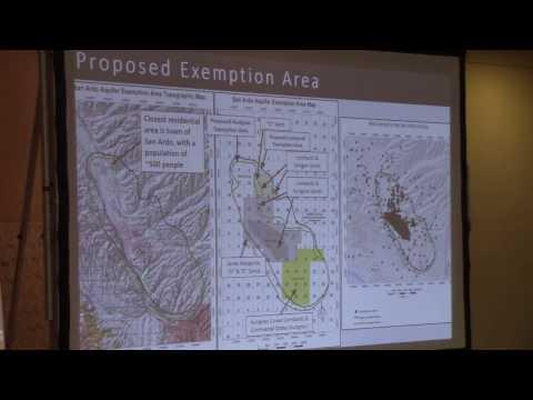 DOGGR Monterey County Aquifer Exemption Presentaion- Mark Davis, Engineering Geologist