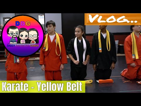 Vlog Valentina graduates to yellow belt in Karate