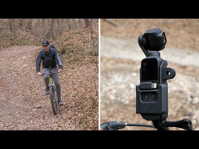 DJI Osmo Pocket on a MOUNTAIN BIKE! Is It SMOOTH? (PolarPro Action Mount Test)