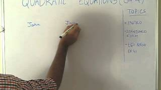 quadratic equations class 10 part 1 example 1 i ii 2 iii iv of ch4 ncert