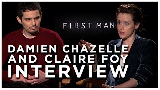 How Damien Chazelle Ends A Film | Damien Chazelle and Claire Foy Interview First Man