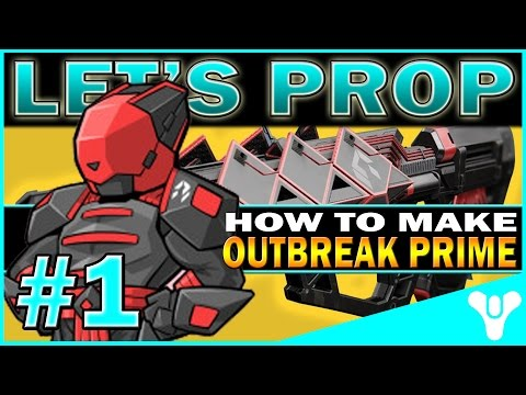 How To Build Gun Prop From Destiny PART 1: Outbreak Prime Exotic Pulse Rifle!